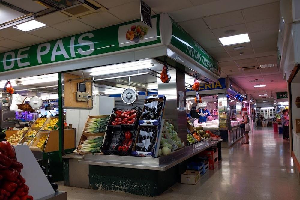 Madrid Spain local market where I got GF bread