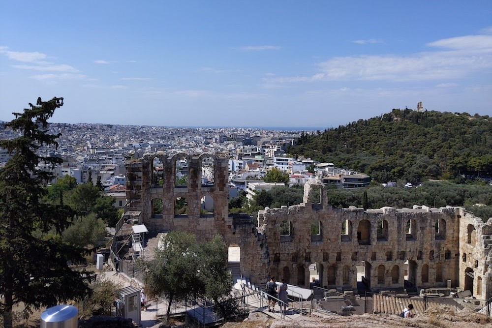 The Odeon of Herodes Atticus at the Acropolis Athens Greece