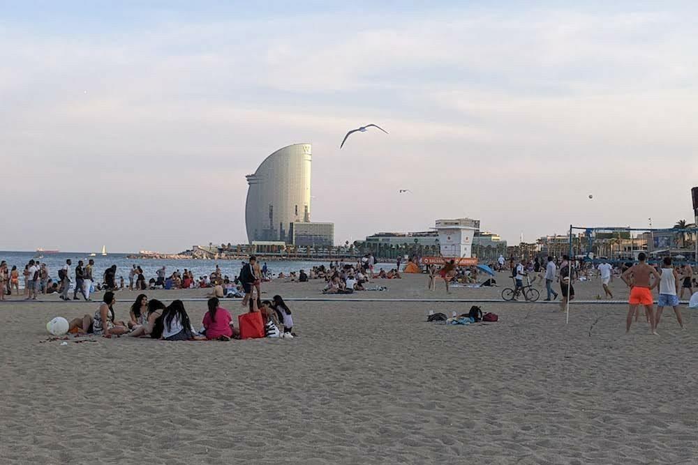 Barcelona Spain beach-June 2021