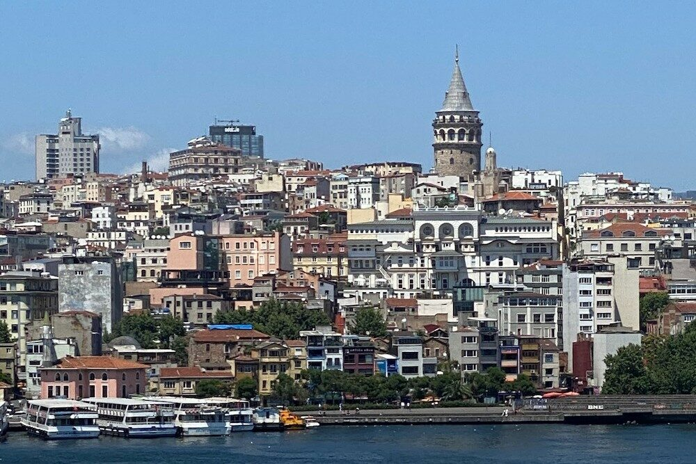 Istanbul Turkey as seen from Bosphorus River